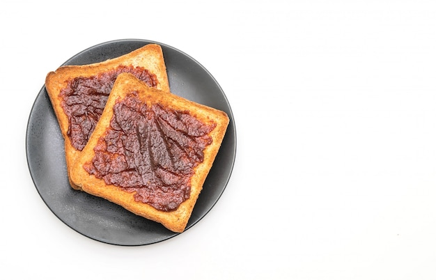 Wholewheat bread toast with chili paste