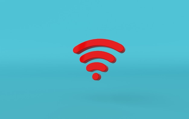 Wi-fi icon 3d rendering