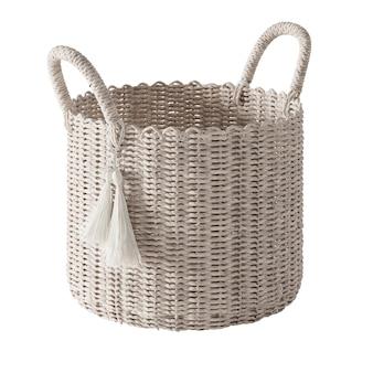 Wicker basket isolated