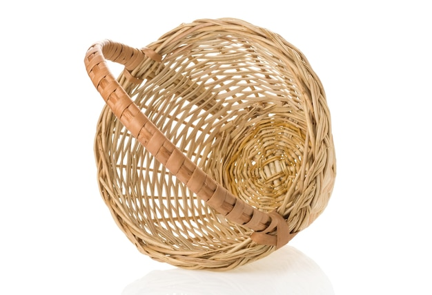 分離された籐のバスケット