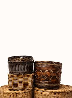 Плетеные корзины из соломы из ивового тростника для домашнего хранения