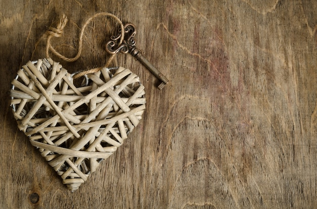 Wicker heart handmade