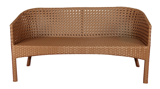 Wicker rattan sofa. outdoor or garden rattan furniture.