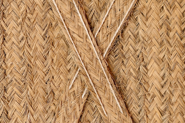 Wicker texture background yellow