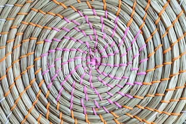 Wicker weaved basket texture