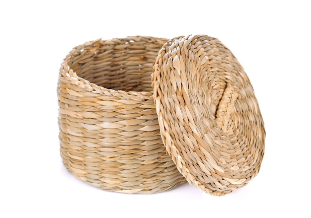Wicker on a white background