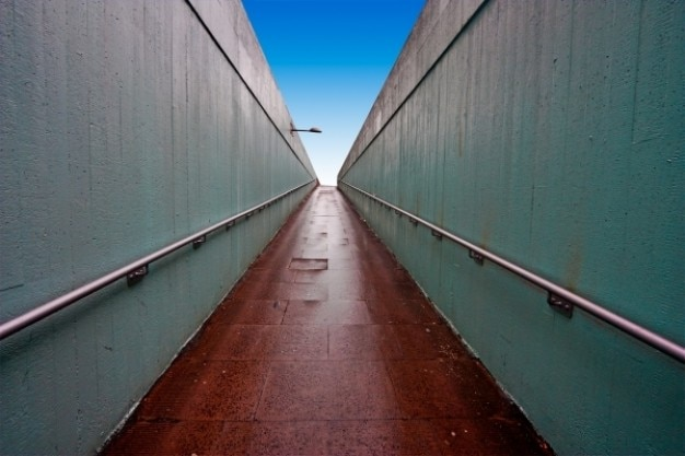 Wide angle underpass