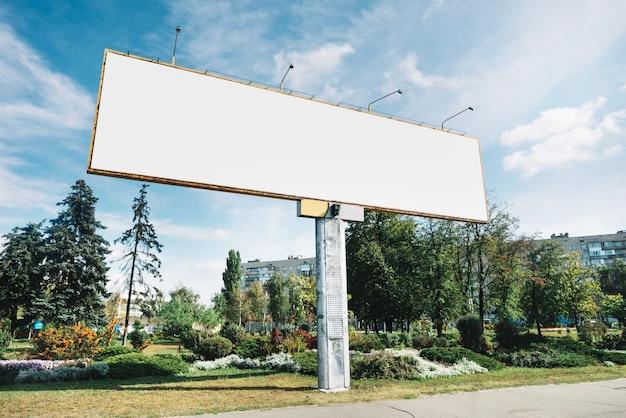 Wide billboard near park