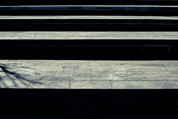 Wide granite stairs, to use as abstract background in the concept of success.