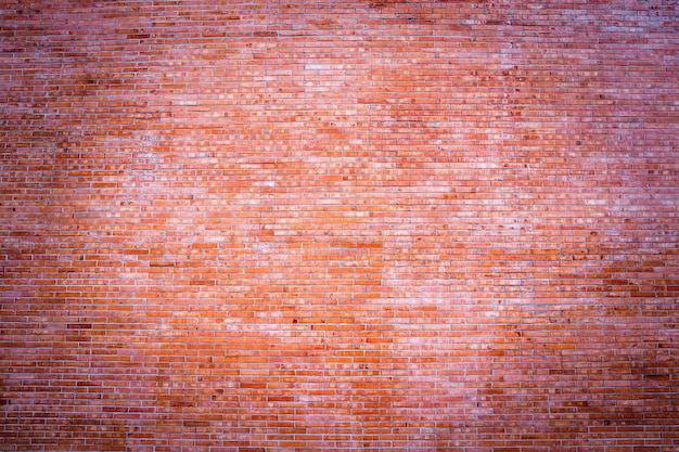 Wide panorama brick wall of red color banner