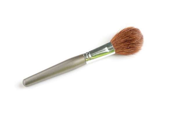 Wide powder brush hair squirrel on white