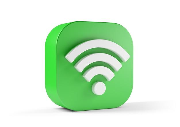 Зеленый значок wi-fi на белом фоне.