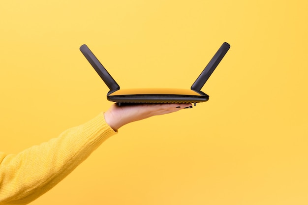 Wifi router on  hand