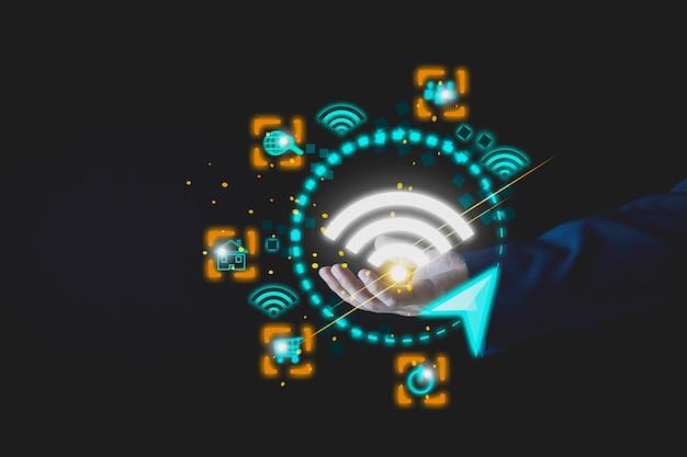 일상의 편리함을 위한 wifi 무선 인터넷 기술 미래의 무선 인터넷 개념 5g