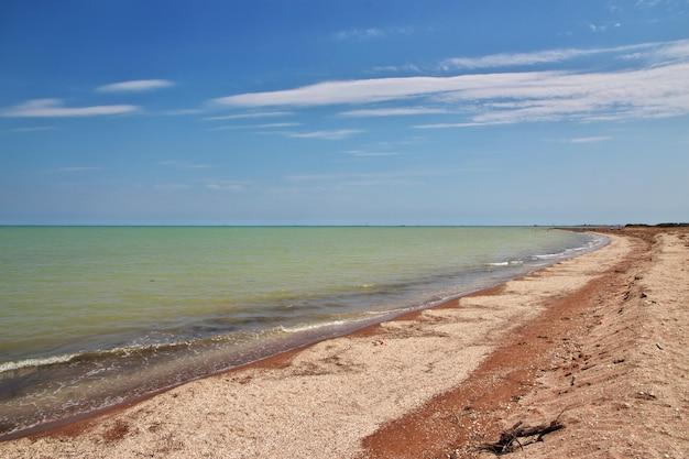 The wild coast of caspian sea, azerbaijan