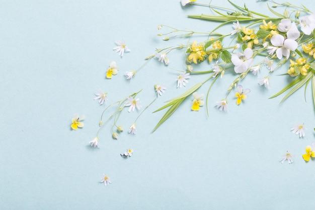 紙の表面に野生の花