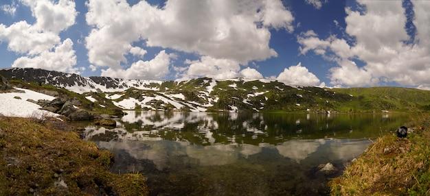 Wild lake in mountain dale