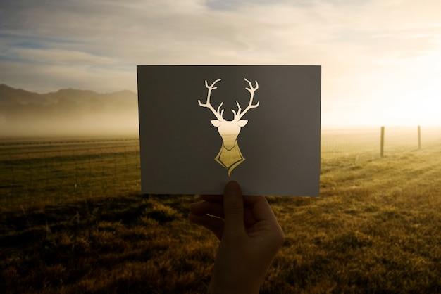 Wild life animal perforated paper moose
