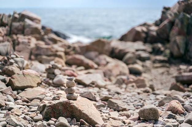 Wild rocky coast on kullen peninsula in western sweden