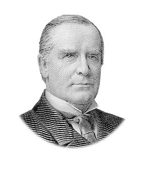 Портрет уильяма маккинли, изолированные на белом фоне