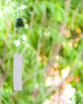 Wind bell japan style and white paper