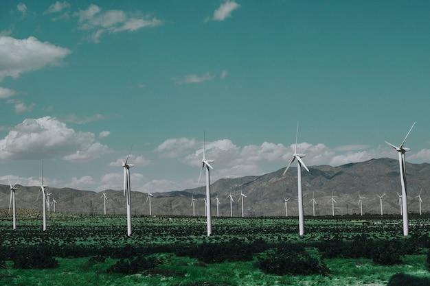 지속 가능하고 재생 가능한 에너지를위한 풍력 발전 단지