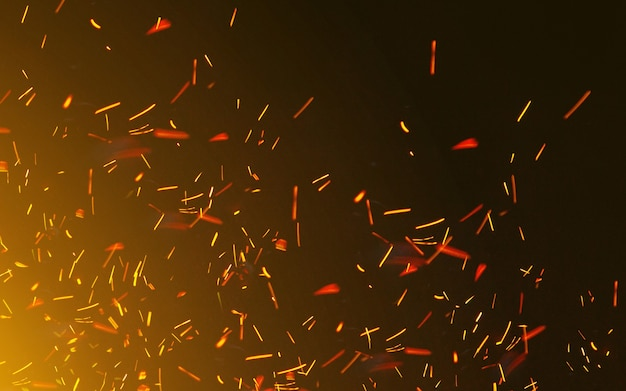 Wind and flames of fire. glitter vintage lights background. defocused bokeh effect. backgrround, wallpaper for advertisement or design, device. copyspace. magical shimmering.