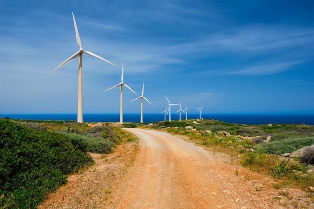 Ветрогенераторы острова крит греция