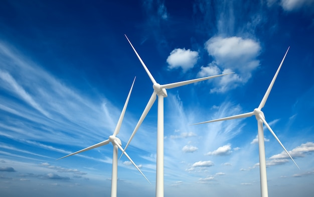 하늘에 풍력 발전기