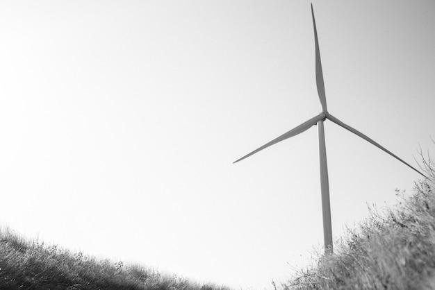 풍력 발전소, 하늘을 향한 블레이드가있는 충성스러운 발전기