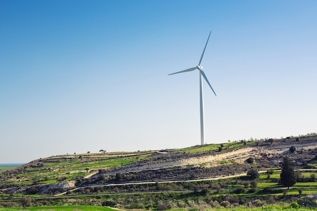 Wind turbine for alternative energy . eco power concept.