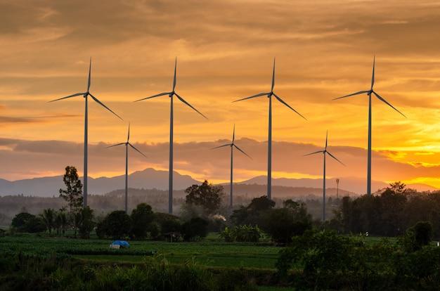Wind turbine energy  green ecological power energy generation