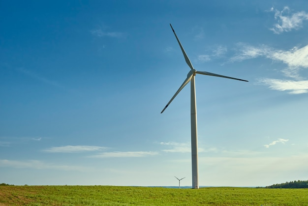 Wind turbine in the field