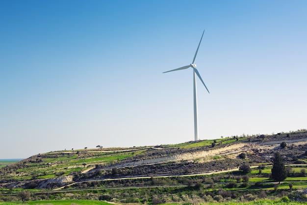 代替エネルギー用風力タービン。エコパワーコンセプト。