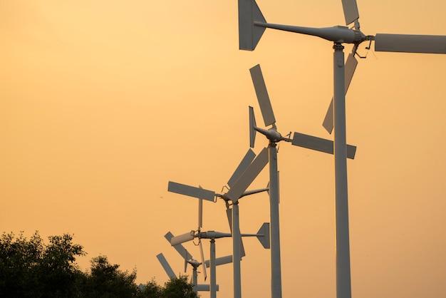 Wind turbine made electric power