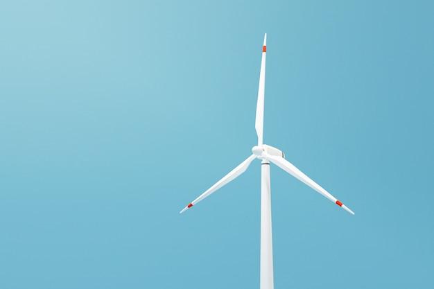 Wind turbine power generator, 3d illustration render image.