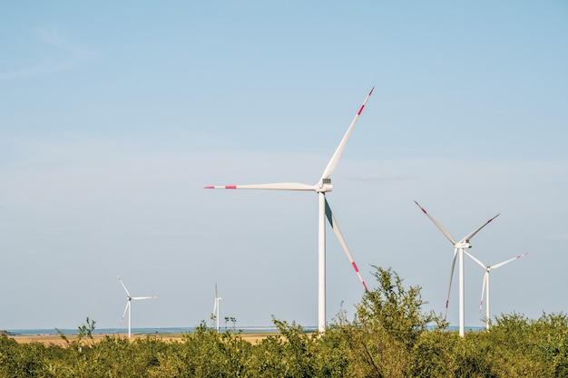 Wind turbines in an arid landscape an alternative way of generating electricity