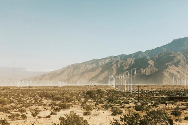 미국 팜스프링스 사막의 풍력 터빈