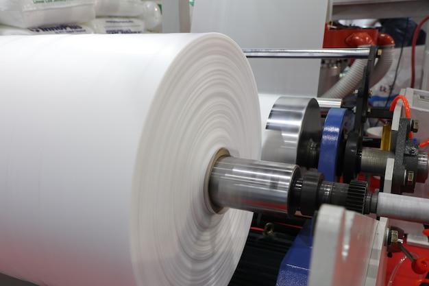 押出プラスチックフィルムブロー機の巻取ユニット