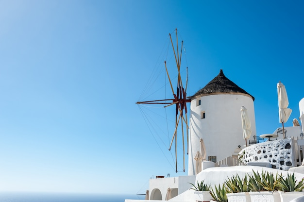 Windmill in the beautiful oia