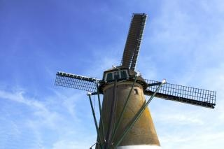 Windmill at kaag near amsterdam