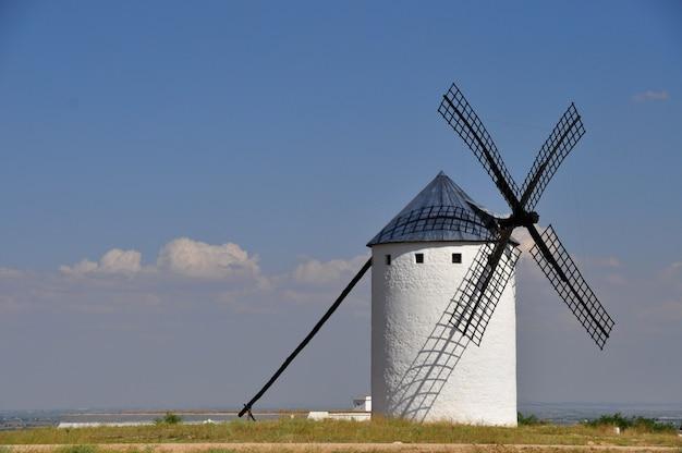 Windmill located in castilla la mancha in spain