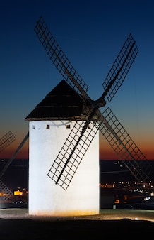 Windmill  in sunset