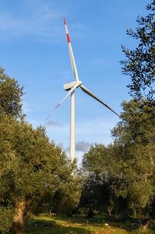 エネルギー生産の風車風力発電技術