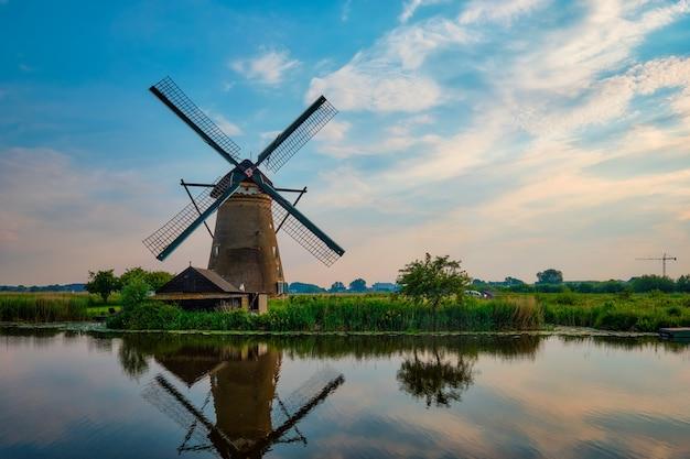 네덜란드 네덜란드 킨더다이크의 풍차