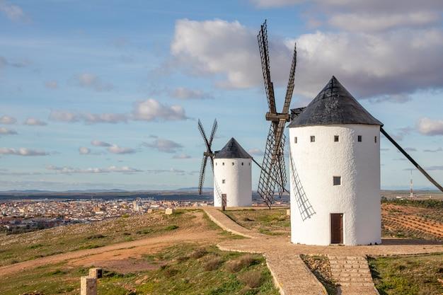 Windmills in castilla la mancha, spain