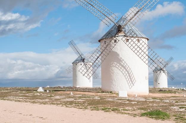 Windmills in la mancha spain