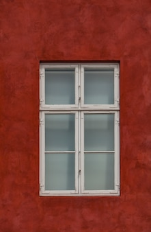 Window on the colorful facade