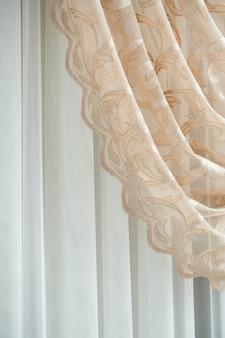 窓のカーテン、アパートのヴィンテージカーテン