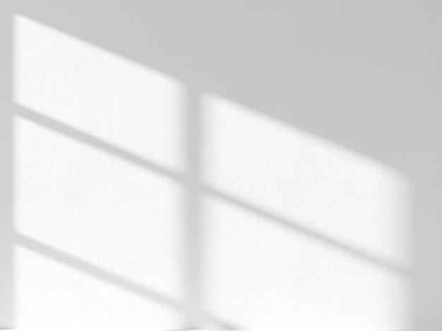 Тень оконной рамы на стене